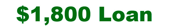 1800 Dollar Loan